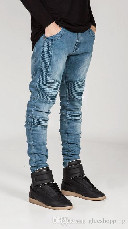 Nuovi jeans famosi uomini di marca Skinny Plus Size Disel Design Slim Straight Jean Maschio Jeans strappati pantaloni falsi abiti firmati