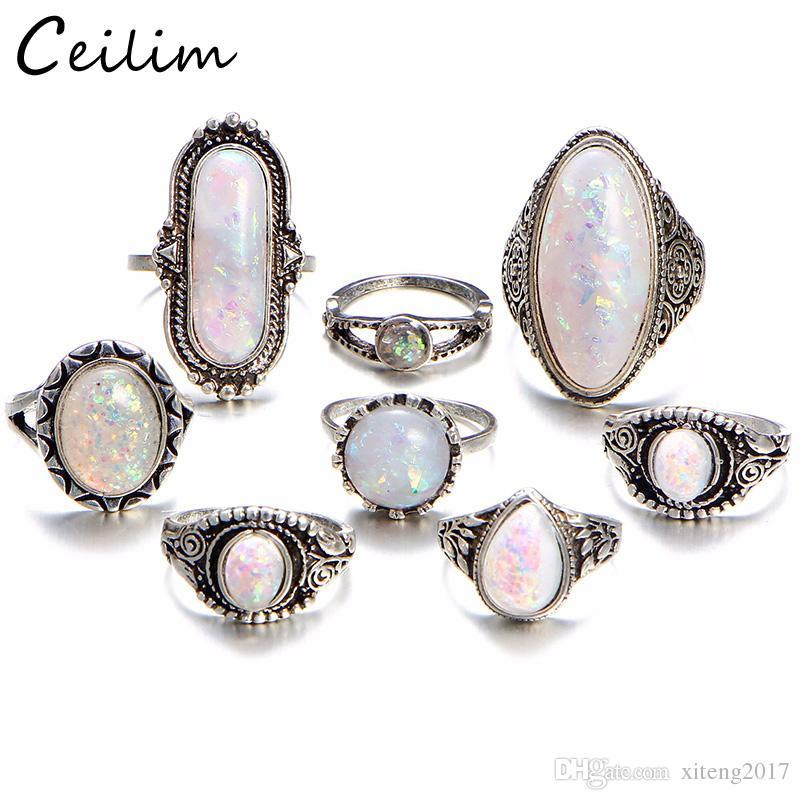 Charm Gold Color Midi Finger Ring Set Vintage Boho Knuckle Party ... 620584d78517