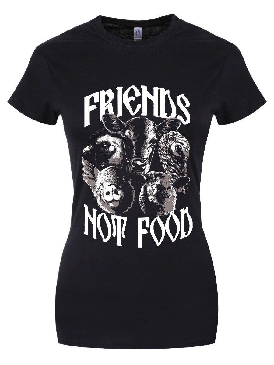 T-shirt Noir Femme Non Végétarien Végétarien