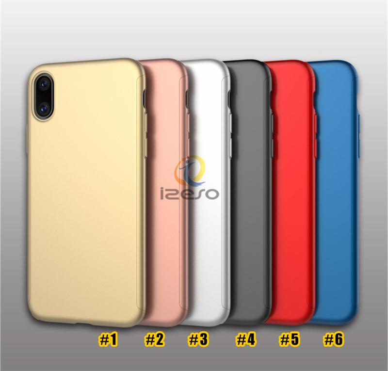 For iPhone 12 11 Full Body Cover Ultra Thin PC Case Tempered Glass Screen Protector for Samsung S20 A71 with Retail Packaging izeso