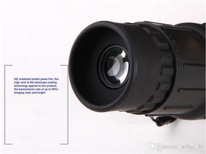 16 x 52 Zoom dual de enfoque Binoculares monoculares Lente óptica Telescopio Día Noche Visión telescopio Binoculares para caza al aire libre KKA1131