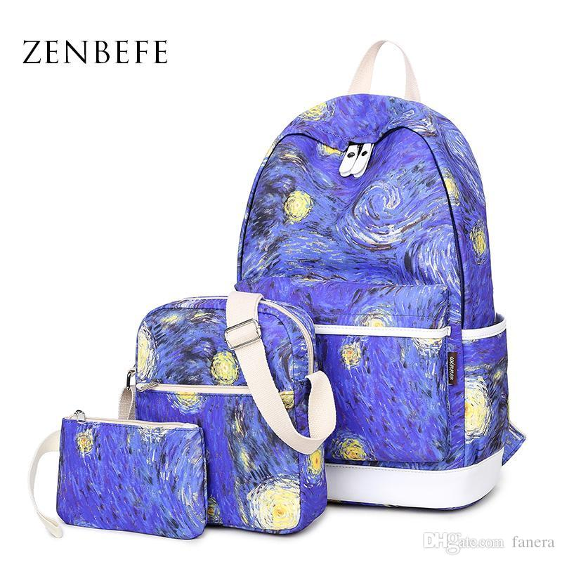 fc7e91a2a073 Wholesale ZENBEFE Women Backpack Polyester School Bags For Teenagers Girls  Backpacks Cute Rucksack Schoolbag Lady Bookbags Girl Backpacks Toddler  Backpack ...