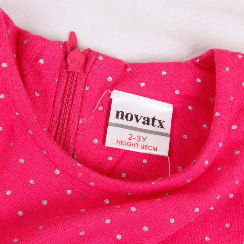 2016 NOVA New Design Girls Summer Cotton Short Sleeve Navy-White Turn-down Striped Printed Lovely Girls Dresses