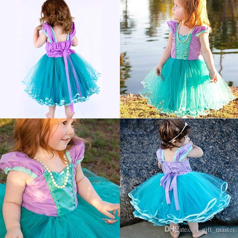 695fe6747b 2019 Fancy Tangled Rapunzel Costume Kids Baby Little Girls Halloween Girls  Fairytale Princess Cosplay Lace Dress For Party J From Gift master