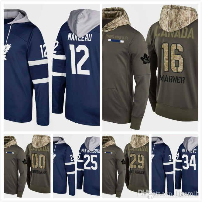 2019 Mens Toronto Maple Leafs Hoodie 2018 Patrick Marleau 12 Mitchell Marner  16 William Nylander 29 James Van Riemsdyk 25 Auston Matthews 34 S 3X From  ... a1f155942