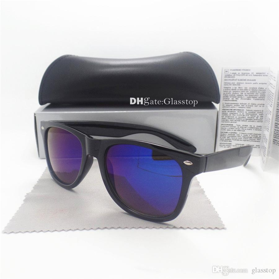 High Quality Men Women Sunglasses 52MM Mixed Vintage Sun Glasses Brand Color Frame Brand Designer UV400 Coating Shade Eyewear With Box Case