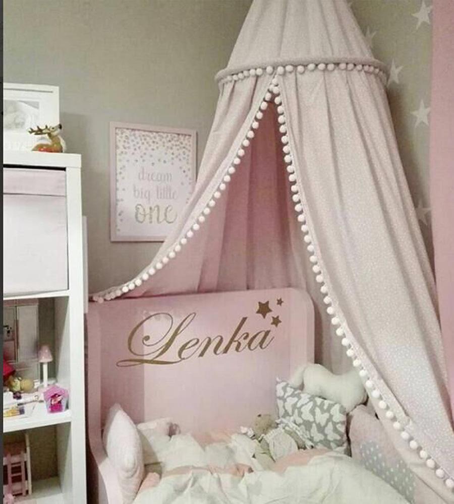 Grosshandel Baby Zimmer Dekoration Moskitonetz Mit Kugeln Kinder Bett