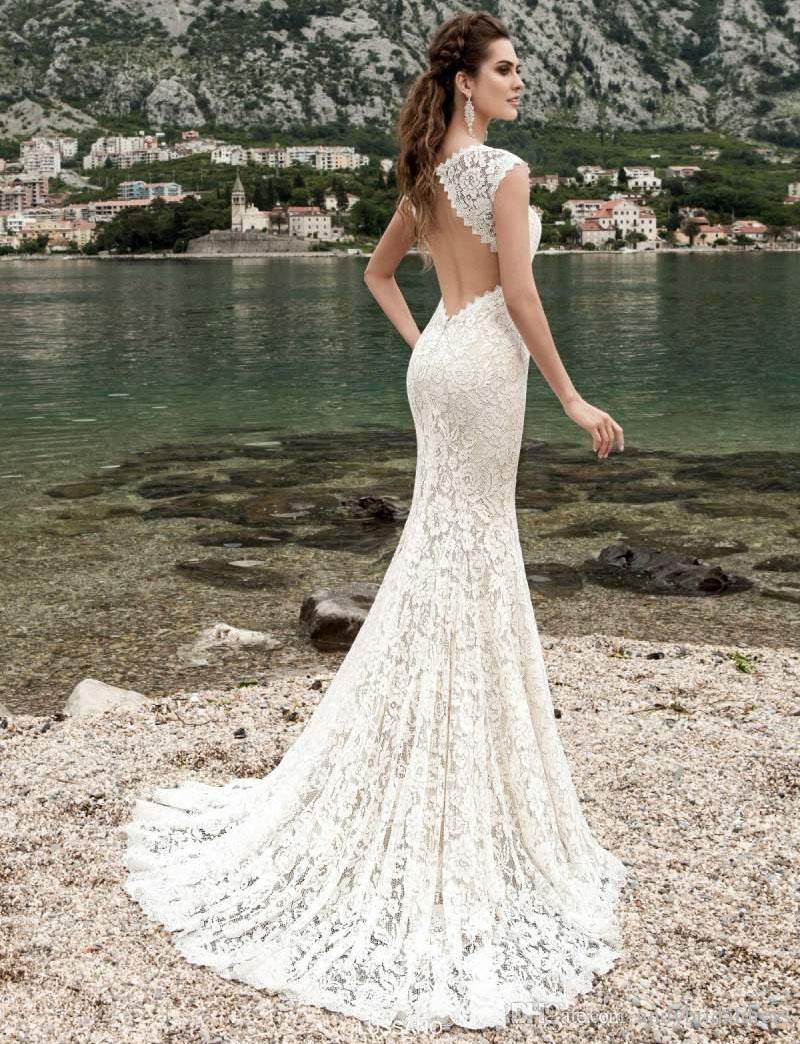 картинки свадебного платья русалка цвета