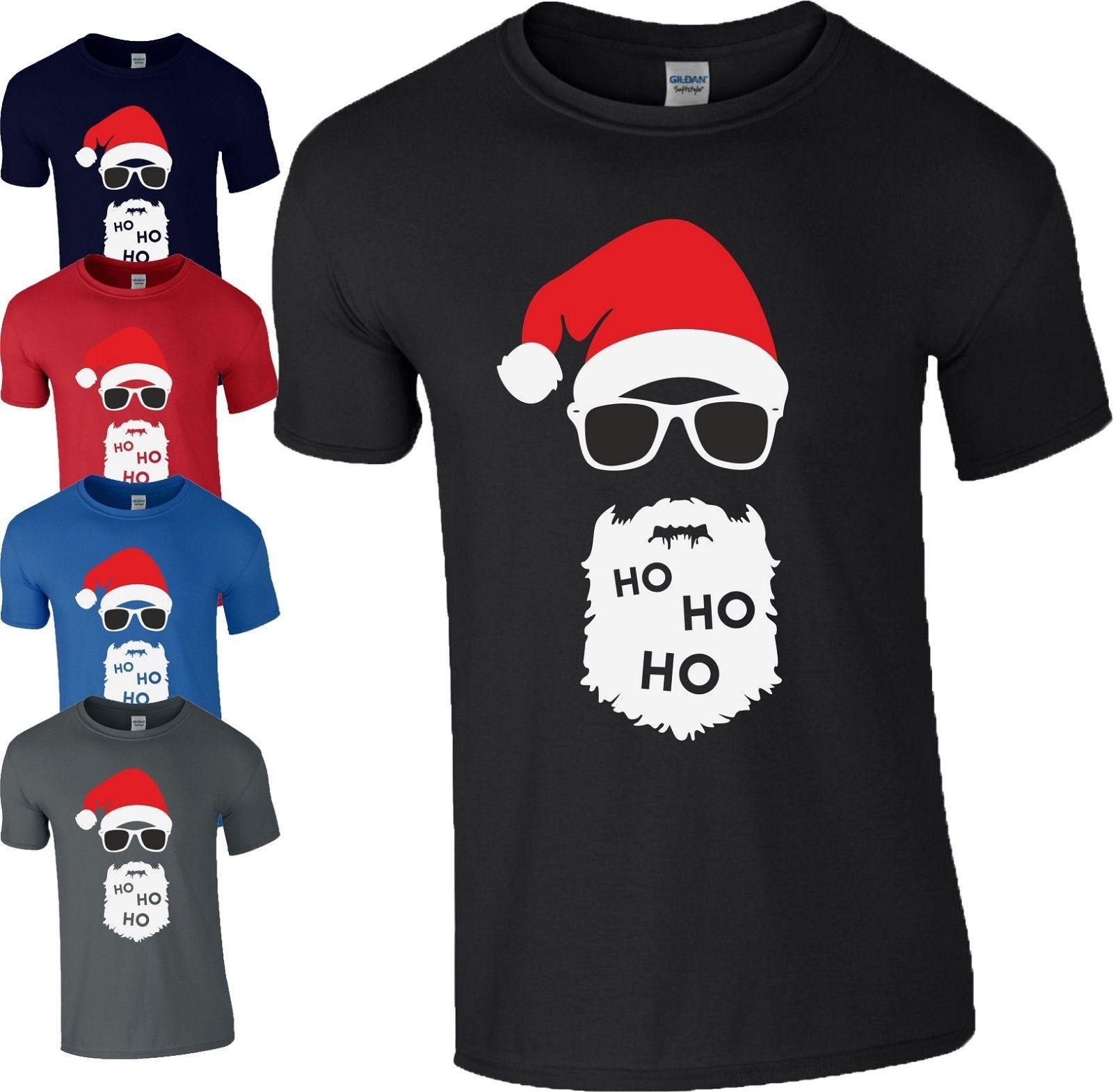 Großhandel HO HO HO Weihnachtsgeschenk T Shirt Weihnachtsmann Mütze ...