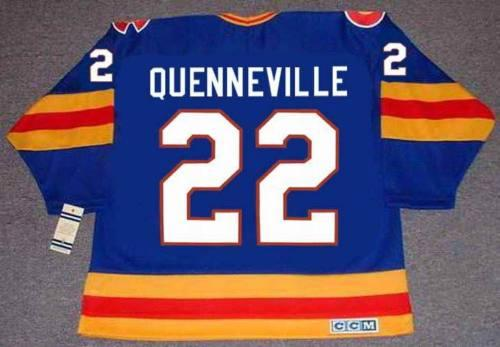 brand new 04d41 be816 JOEL QUENNEVILLE Colorado Rockies 1980 CCM Vintage Turn Back Hockey Jersey  All Stitched Top-quality Any Name Any Number