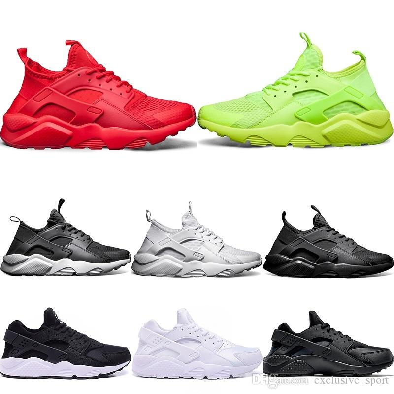 bc94a75997f3 Designer Huarache 4 Trainers Sneaker Running Shoes Triple S White ...