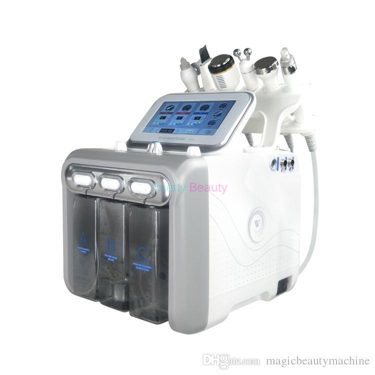 Yeni 7 1 Profesyonel Hidro Mikrodermabrazyon hydra yüz Cilt Bakımı Temizleyici Su aqua Jet Oksijen Soyma Spa Dermabrazyon Soyma Makinesi