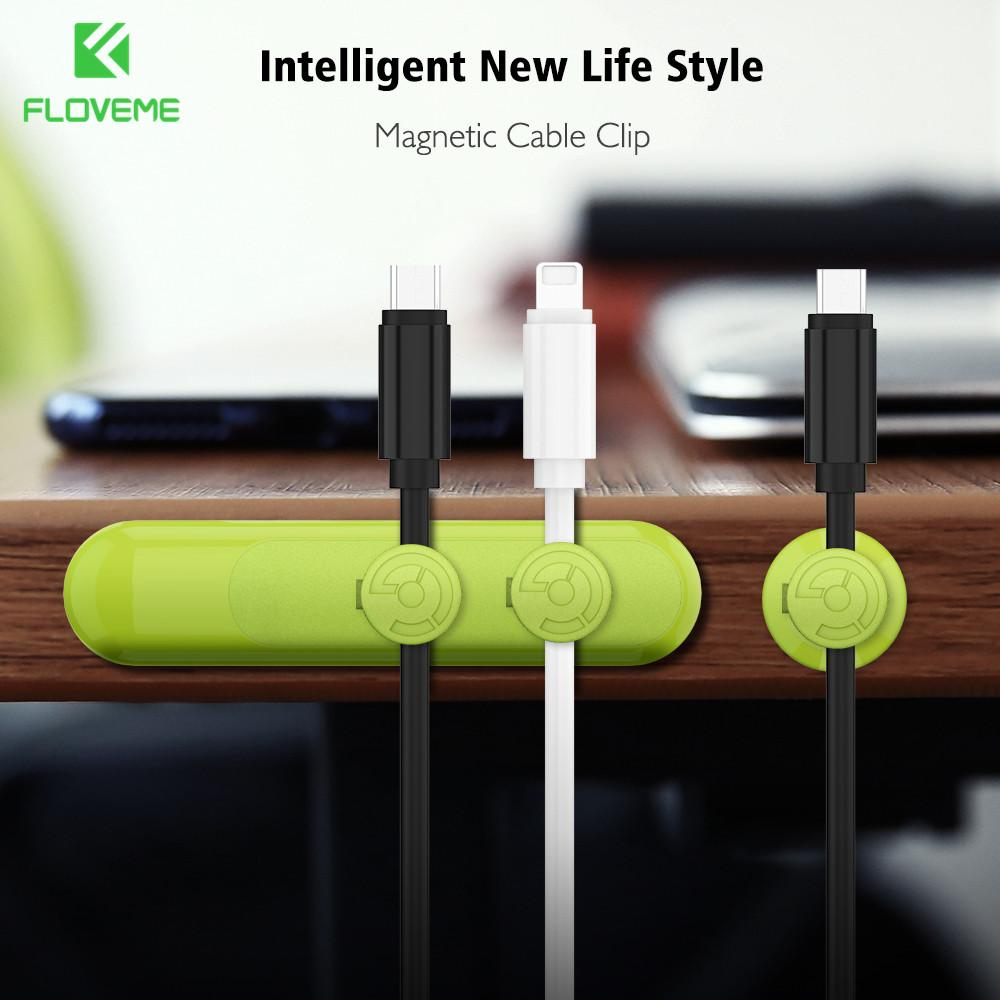 2018 Floveme Mini Magnetic Cable Clip Charger Receiver Wire Organizer Desk Cord Lead Holder Universal Phone Accessories Socket From Therese