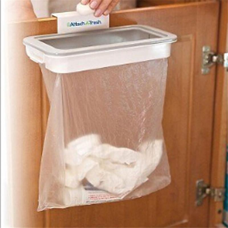 1 Set Cupboard Door Hanging Trash Storage Drawer Trash Can Hanging Kitchen Cabinet Garbage Storage Kitchen Qb972681 Free Shipping