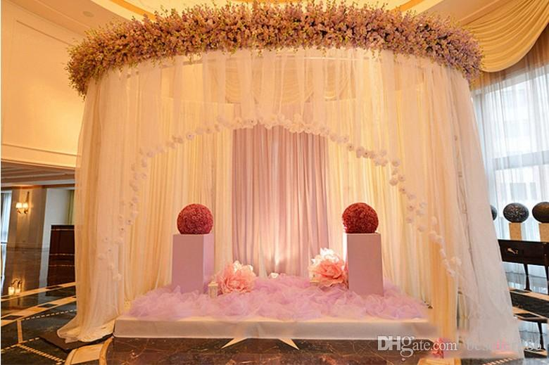 Fashion Ribbon Roll Organza Tulle Yarn Chair Covers Accessories For Wedding Backdrop Curtain Decorations Supplies 50m/roll