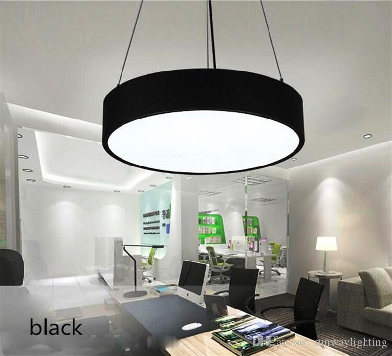 Superior Round Pendant Led Chandelier Office Modern Minimalist Fashion Study  Restaurant Hanging Line Lighting Lamps Commercial Lighting Modern Hanging  Light Fixtures ...