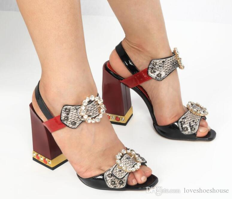 2018 Women Party Shoes Sexy Gladiator Sandals Ankle Strap Diamond High  Heels Peep Toe Crystal Sandals Buckle Rhinestone Pumps Women Sandals  Gladiator ... e1abfede12a2