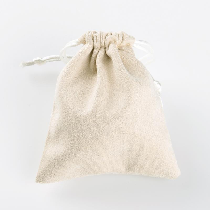 FANXI Wholesale Elegant Beige Drawstring Gift Bags For Ring Necklace Charms Bracelet Bangle Holder Suede Jewelry Pouch