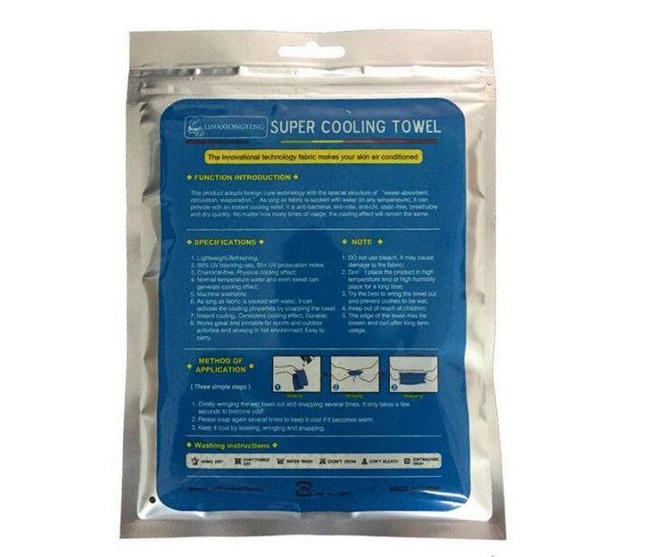 lenços de toalha de refrigeração de qualidade superior camping caminhadas ginásio exercício treino toalha tecido de gelo macio respirável refrigerável toalhas de esportes legal