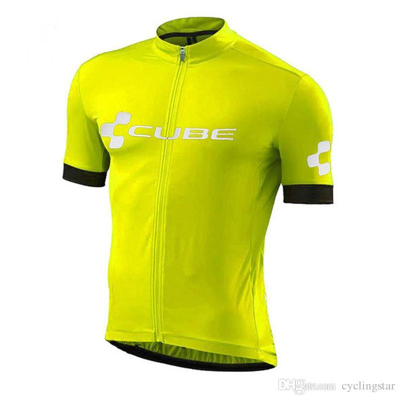 Cube 2018 Велоспорт Джерси летние гонки топы Велоспорт одежда Ropa Ciclismo быстрая сухая рубашка с коротким рукавом mtb велосипед Джерси A2501