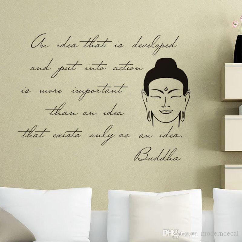 Buddha Statue Wall Stickers Quotes Vinyl Art Decals Removable Home Delectable Statue Quotes