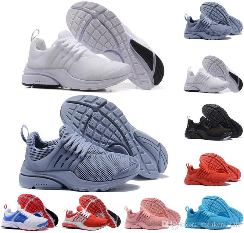 more photos 3efe7 30768 New men running shoes presto run Triple black white yellow Red Light blue  Oreo Cheap Women Mens Sneakers casual Sports Shoe trainers