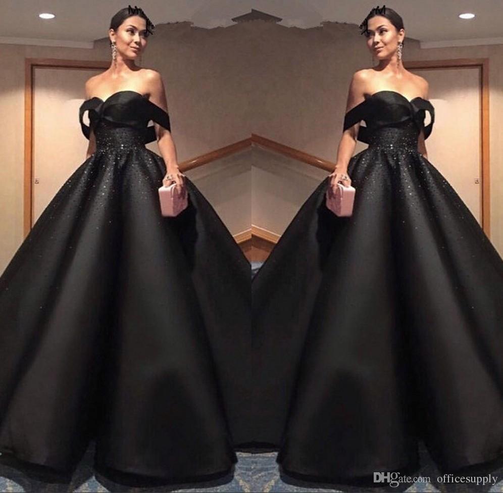 De Compre Robe Vestidos Elegantes Soiree 2018 Negros Yf6y7gbv