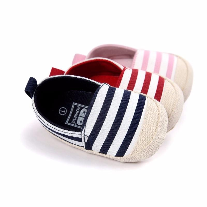 5f2cd46d16d8 2018 2018 Fashion Blue Striped Baby Boys Baby Girls Shoes Lovely Infant  First Walkers Cute Soft Sole Toddler Shoes Hot Sale From Babymom