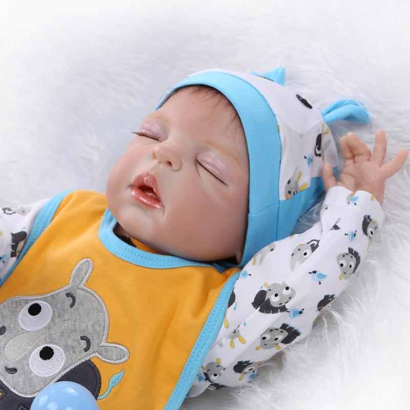 22 Full Silicone Reborn Baby Doll 55cm Lifelike Sleeping Reborn Boy Babies  Collection Girl Brithday Gifts Brinquedos Bathe Toy Vinyl Baby Dolls Car  For 18 ... a80b918776
