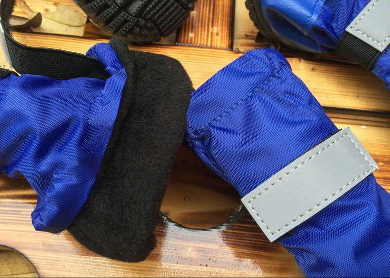 Top Quality Reflective Large Dogs Shoes Pet Shoes Waterproof Snow Rain Boots For Golden Retriever Blue/Black/Orange On Sale!
