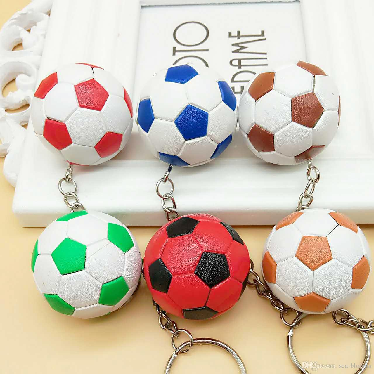 f6715cb1b 2019 2018 Football Keychain Pendant Bag Accessories Football World Cup Fans  Small Gifts Sports Events Commemorative Gifts G627R From Sea Blooms
