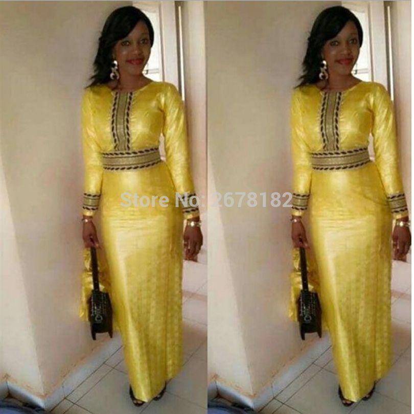 Compre Ropa Africana Vestido Dashiki Africano Para Mujer Estampado De  Cabeza De Rejilla Amarilla Estilo De Vestir A  26.47 Del Hongzhang  c9285a1d20f
