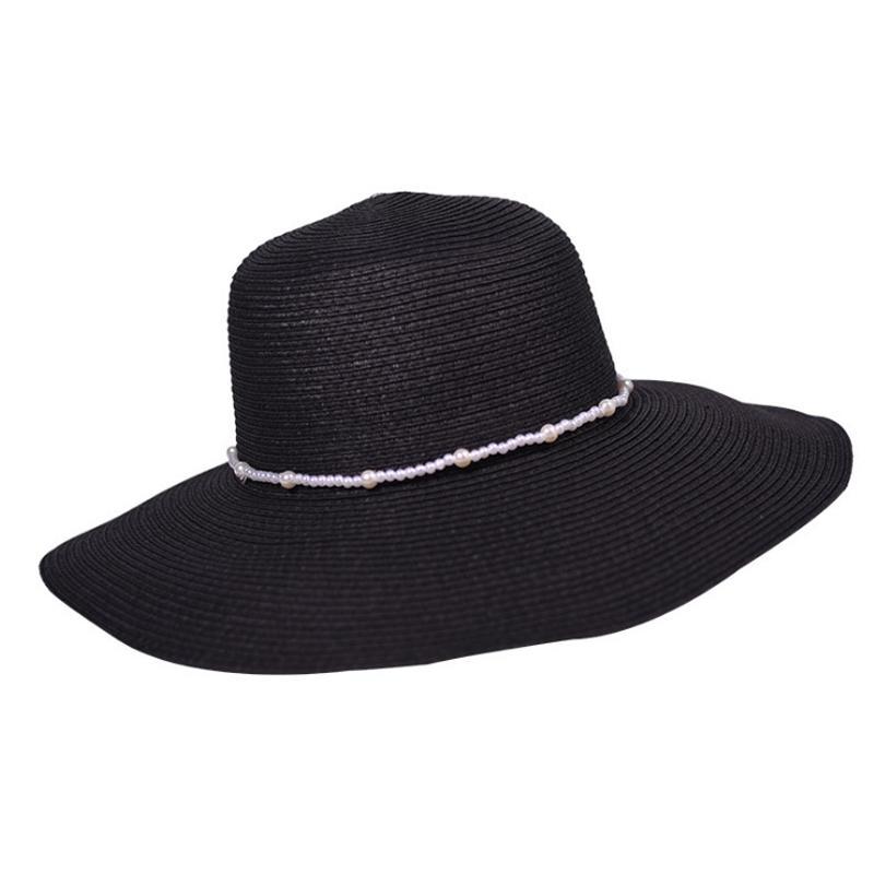 68a1a16cf09 Aikoar Hot 2018 Women s White Hat Summer Black Oversized Sunbonnet ...