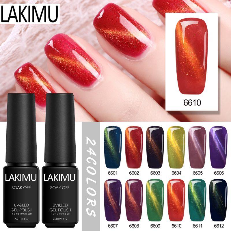 Lakimu Nail Supplies for Professionals 7ml Popular Cat Eye Gel Nail Polish  Soak Off UV Gel Shiny Varnishes for New Art