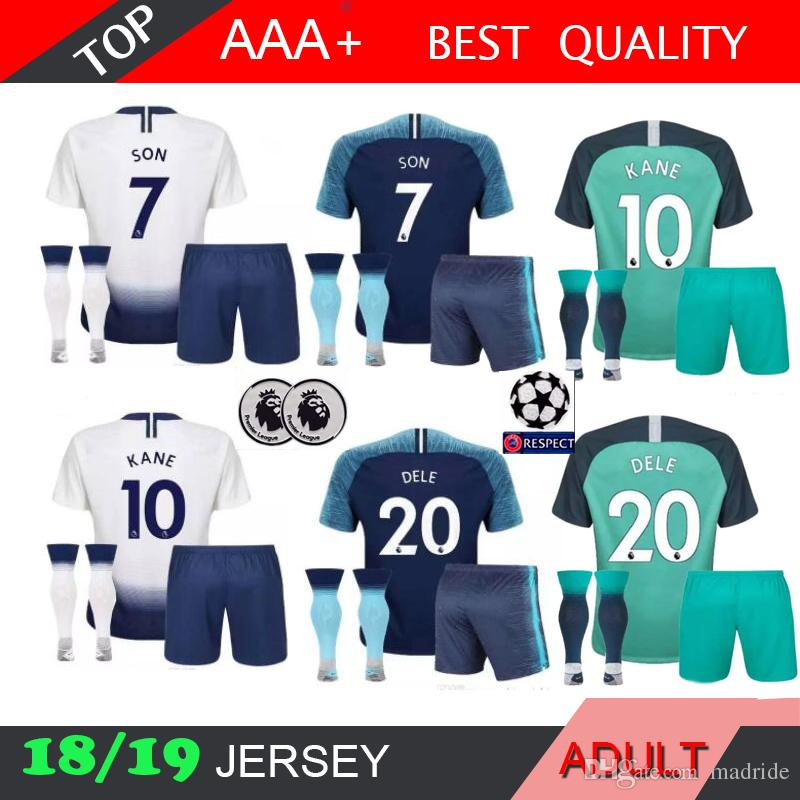 2019 18 19 Tottenhames MEN Home Soccer Jersey Kits 2018 2019 Spurs Dier  Kane Son Alderweireld Eriksen Dele Lamela HOME AWAY 3RD Football Shirt From  Madride 623df149f