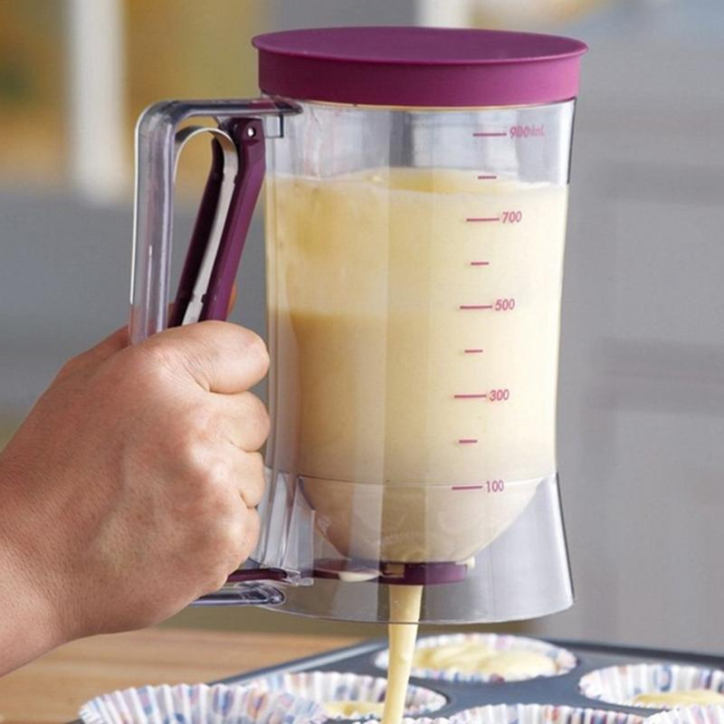 Inventive Cream Speratator Cupcakes Pancakes Cake Muffins Baking Waffles Batter Dispenser Latest Fashion Home & Garden