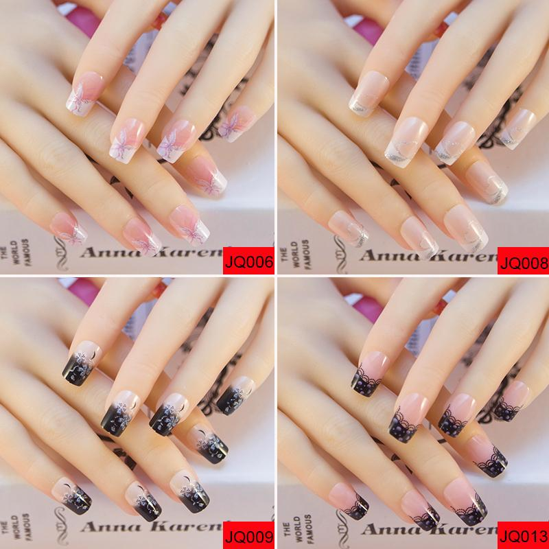 Acrylic Nails Full Press On Nails 3d Bride Fake French False Nail