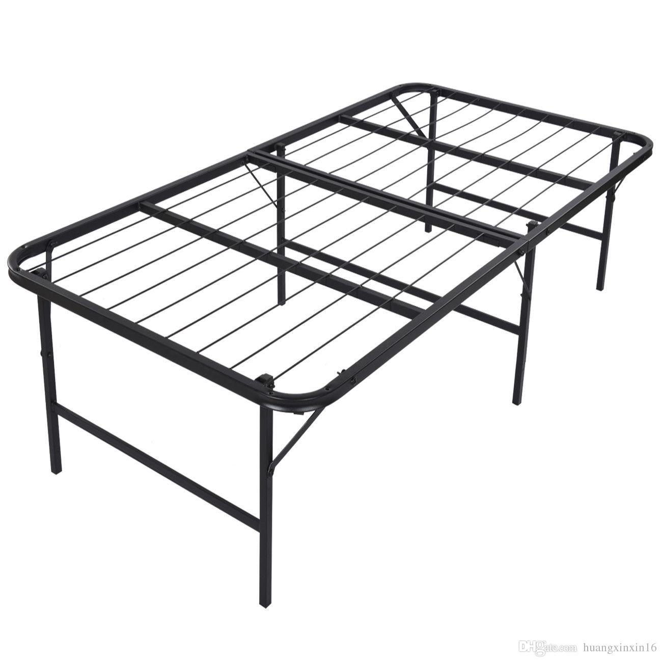 2018 Foldable Platform Bed Frame And Mattress Foundation 17 Inch Bi ...