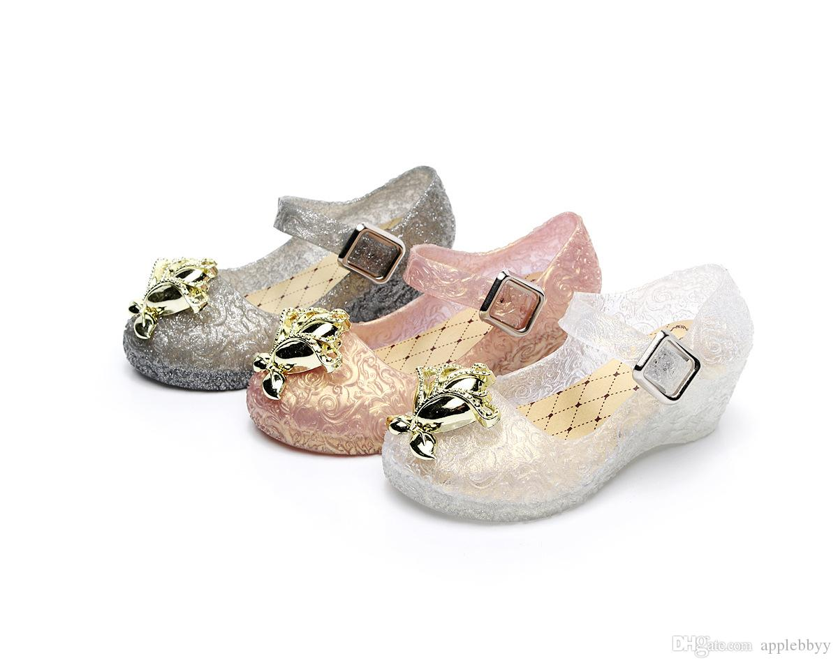 Mini Girl Jelly Shoes Child Wedges Princess Shoes Small Children S Little  Girl Ice Crystal Shoes DHL Cute Little Girl Shoes Children Sandles From  Applebbyy 60b43737e676