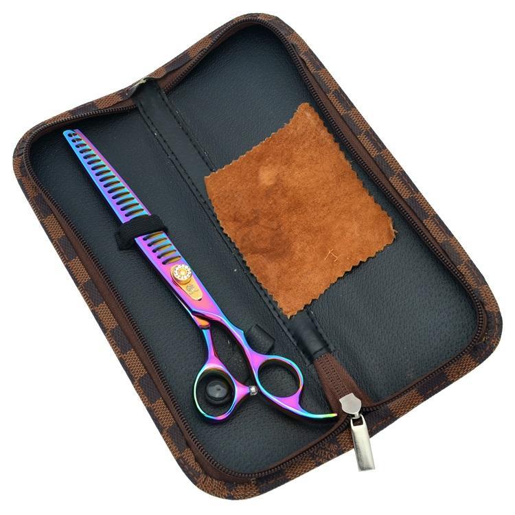 "Purple Dragon 8.0"" Japn 440C Pet Grooming Scissors Dog Cat Cut Hair Thinning Shears Clippers Styling Tool High Quality Hair Salon LZS0337"