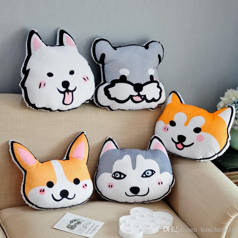 2019 3d Plush Dog Shaped Pillow Plush Animal Pillow Stuffed Puppy