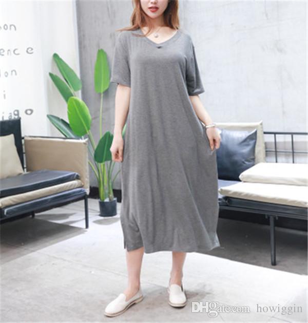 2018 Xxl Fat Lady Dress Summer Dresses Maternity Dress Pregnant ...