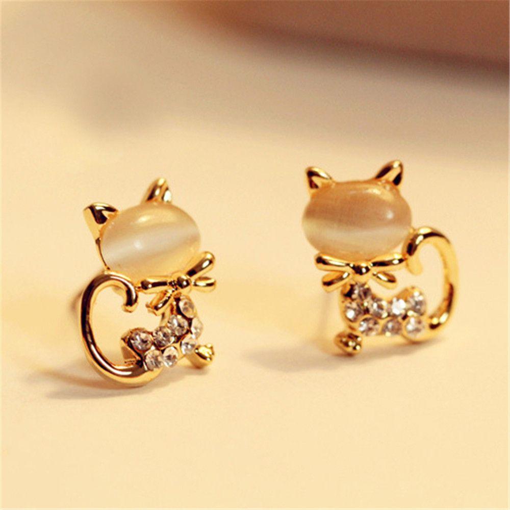 Earrings 2019 New Fashion Jewelry Crystal Stud Earrings For Women Girl Bow Crystal Earrings Hot Selling Luxury Zirconia Earrings Female Modern And Elegant In Fashion Jewelry & Accessories