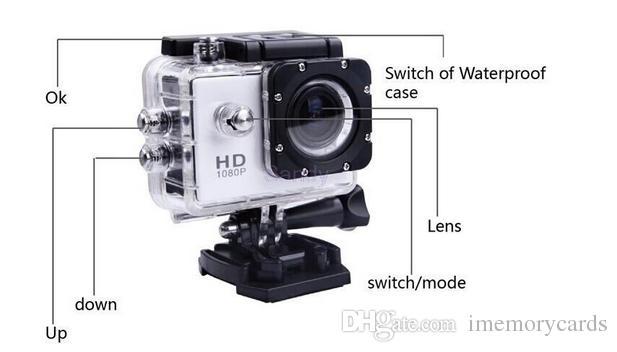 2018 sıcak sellingSJ4000 Spor Kamera SJ 4000 1080 P 2 Inç LCD Full HD Altında Su Geçirmez 30 M Spor DV Kayıt Bisiklet Paten Kayıt