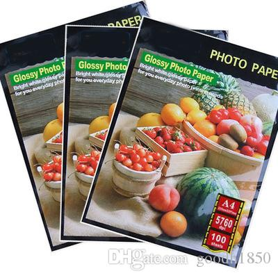 100 Sheets A4 size High Glossy Photo Paper,135gsm paper,usage in record trip and daily living,