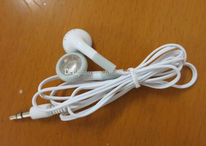 الجملة لا 3.5mm هيئة التصنيع العسكري سماعات الأبيض المتاح سماعة أذن ل MP4 الهاتف المحمول MP3 أرخص