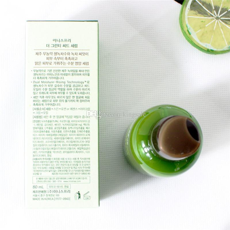 كريم العناية الساخن بيع زجاجة INNISFREE كوريا الأخضر CREAM THE الشاي الأخضر البذور مصل الترطيب العناية بالوجه غسول 80ML جديد الوجه الجلد