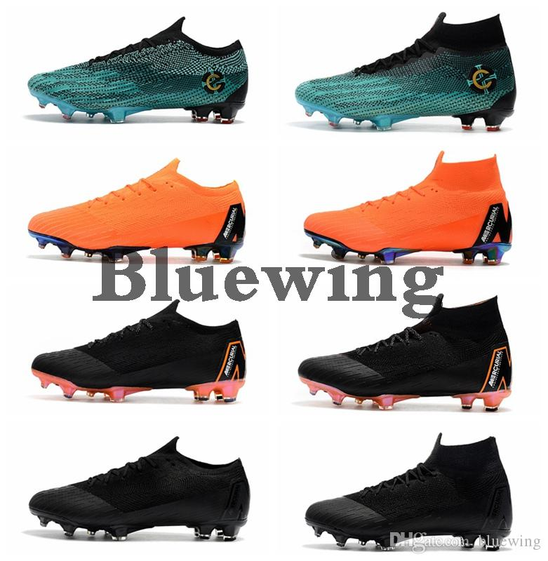 Kids Football Boots Mercurial Superfly VI 360 Elite FG High Low Mens Soccer  Cleats Youth Ronaldo CR7 Soccer Shoes Cleats Men Football Shoes UK 2019  From ... 3e9755ab94
