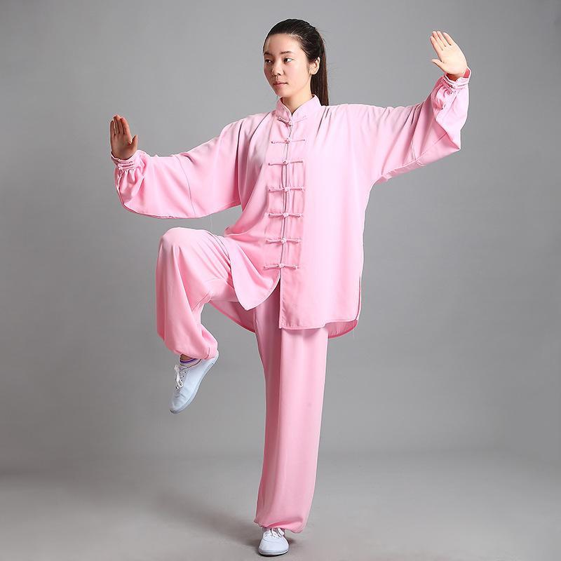 ffbaa5f98 2019 Tenue Women Kung Fu Wushu Clothes Shaolin Suit Kungfu Taiji Uniform  Traditional Chinese Dress Men Costume Martial Art Taichi From Jiuwocute, ...
