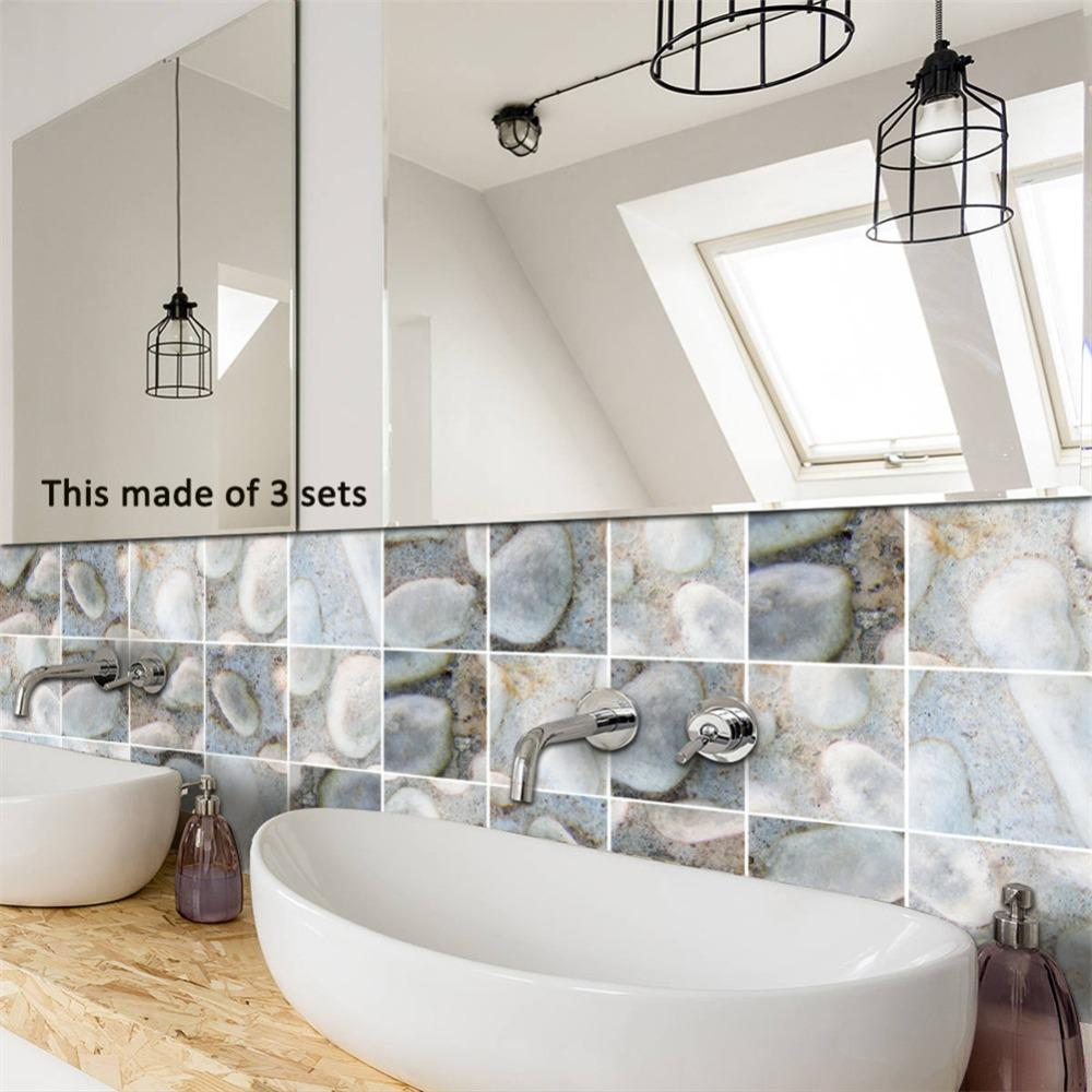 Creative 3d Cobblestone Tile Stickers Innovative Art Home Decoration ...